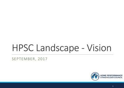 HPSC:  Landscape to Vision