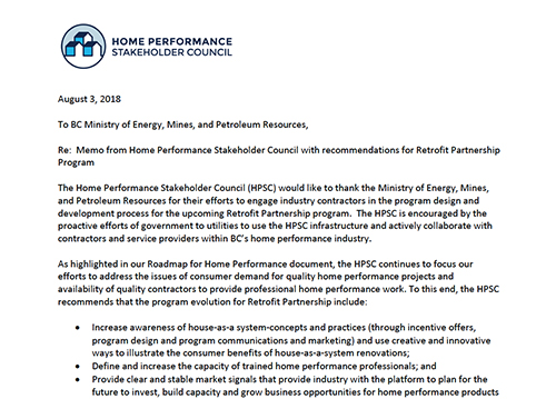 Recommendations for Continued Evolution of the Retrofit Partnership Program