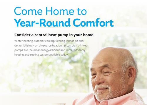 Central Heat Pump Marketing & Info Sheet