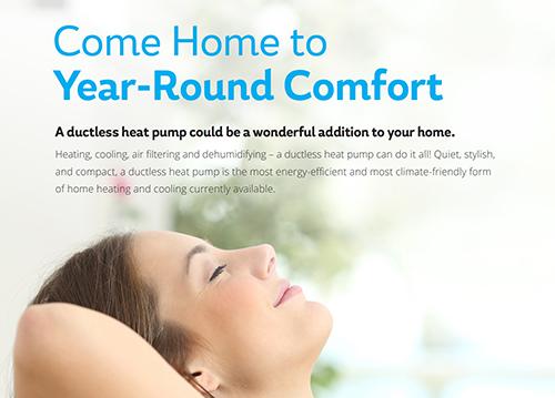 Ductless Heat Pump Marketing & Info Sheet