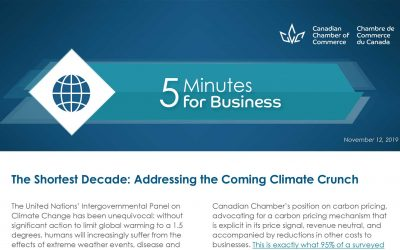 Canadian Chamber of Commerce: Addressing the Coming Climate Crunch