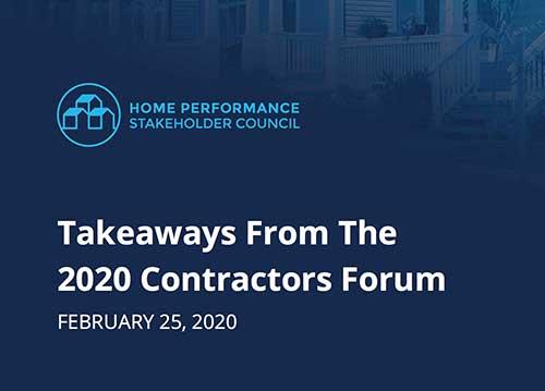 Takeaways from the 2020 HPSC Contractors Forum