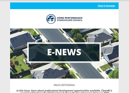 General E-Newsletter – March 2019