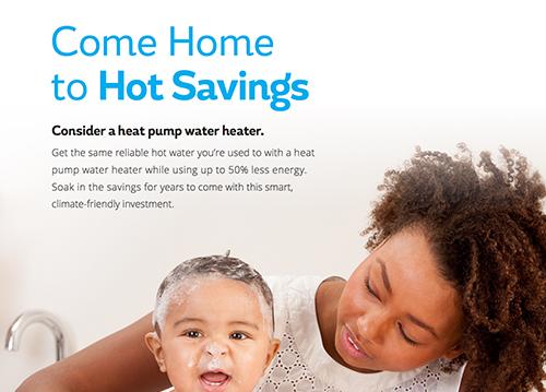 Heat Pump Water Heater Marketing & Info Sheet