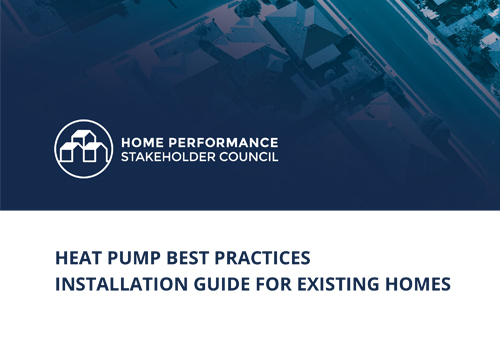 Heat Pump Best Practices Installation Guide For Existing Homes